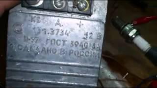 Проверка коммутатора зажигания ГАЗель.  Checking the ignition switch Gazelle.