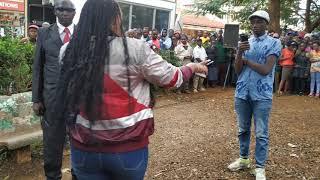 Baby Top (Muthoni wa kirumba) Thrives crowd at Kameme fm action station -Mama Ngina grounds Thika.