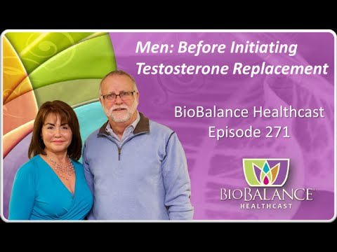 Men: Before Initiating Testosterone Replacement