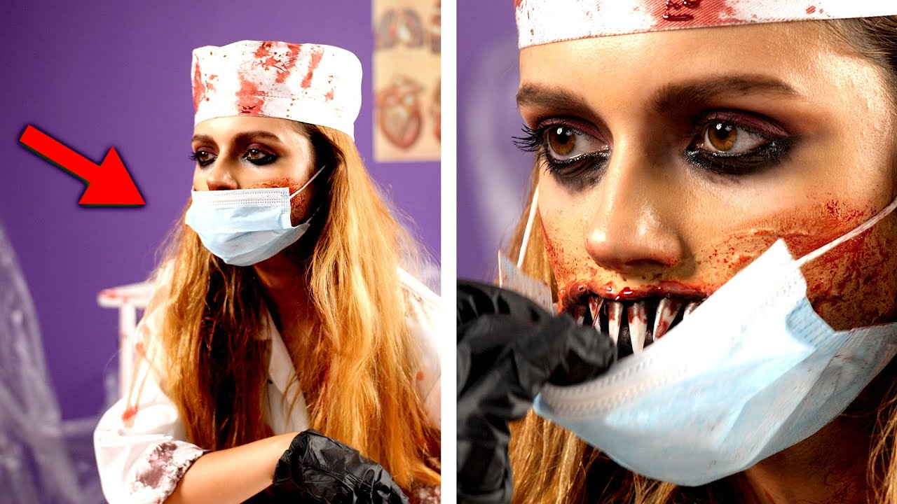 The Best Scary Halloween Costumes.6 Scary Halloween Makeup And Diy Costume Ideas Youtube