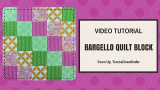 Quick and easy bargello quilt block - tube quilting