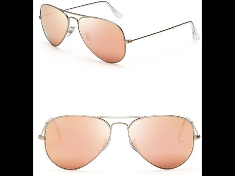 rose gold ray ban aviators  Another RAYBAN Unboxing: Flash Aviators! - YouTube