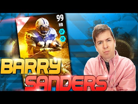 99 OVERALL BARRY SANDERS GAMEPLAY! BEST STATS EVER?! MADDEN 16 ULTIMATE TEAM