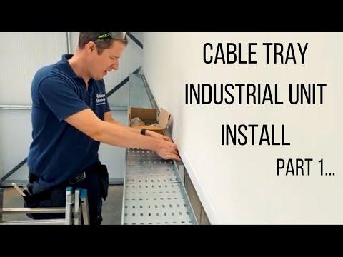 Cable Tray, Three Phase Sockets & SWA Cable Install - Part 1