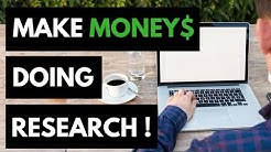 Make Money Doing Research Online - Earn Up To $75 Per Hour