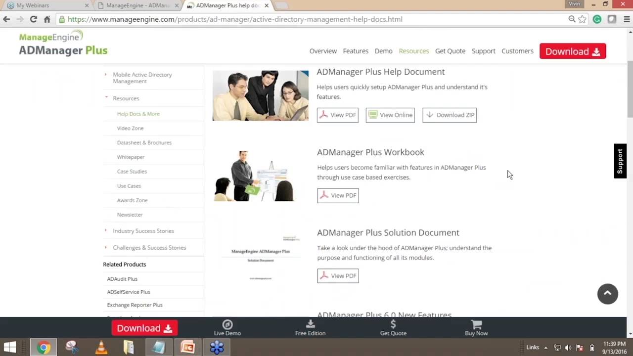 ADManager Plus Session 1 - Effective AD management and reporting.