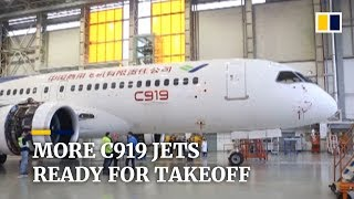 Baixar Three more Chinese C919 passenger jets to start test flights by late 2019