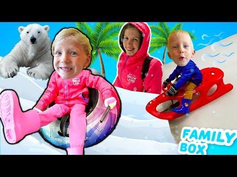 СНЕГ в ТАЙЛАНДЕ Зимний городок с ГОРКАМИ Наш семейный Обычный день влог от Family Box