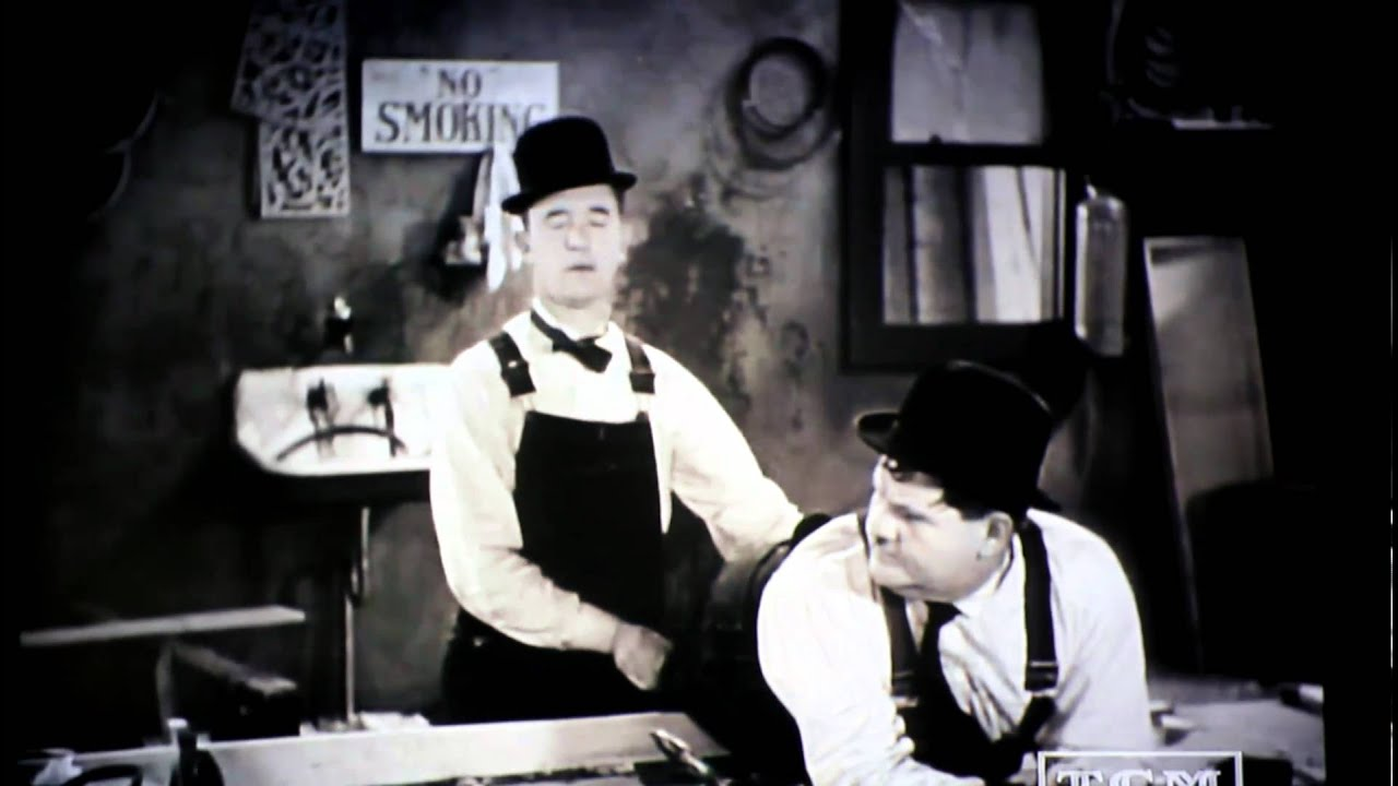 Laurel and Hardy woodworking - YouTube