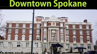 Downtown Spokane Buildings Old Historic Lilac City Worlds Fair Town #1