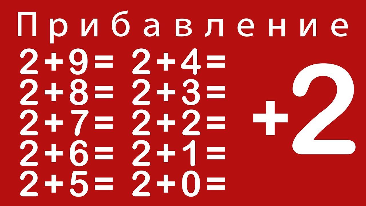 Учимся прибавлять цифру 2. Урок 2. Развивающий мультик для детей от 5 до 6 лет.