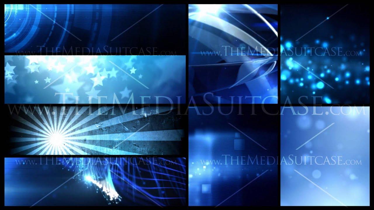 Blue Banner Background Video
