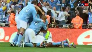 Manchester City 1 - 0 Stoke City | Official Pitchside Highlights The FA Cup Final 2011 14/05/11
