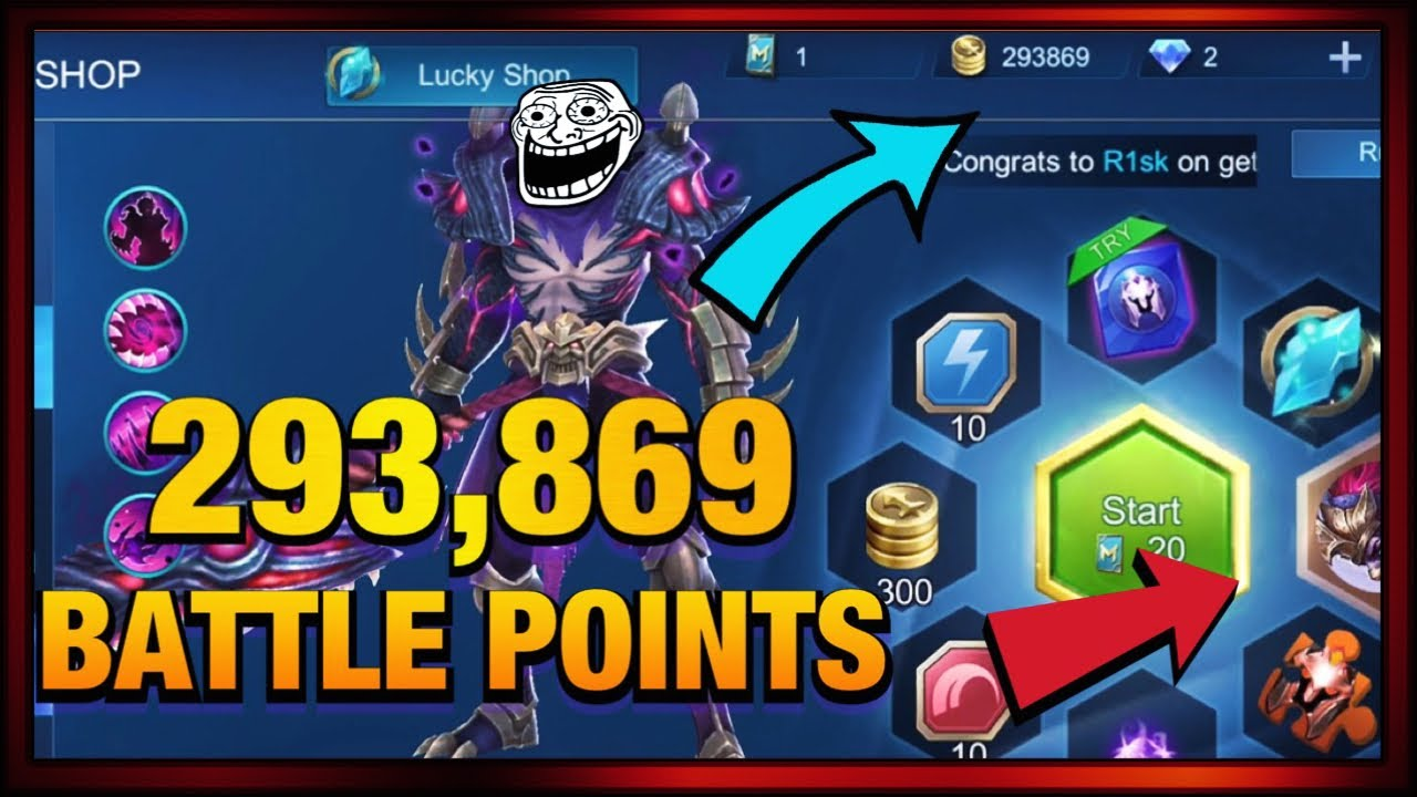 BATTLE POINTS IN LUCKY SPIN MOBILE LEGENDS - YouTube