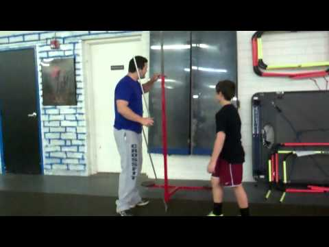 Training Valley - 11 year old Zack tests in the vertical jump