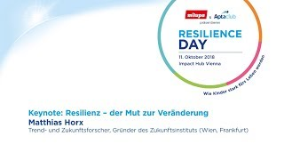 Matthias Horx: Resilienz - der Mut zur Veränderung