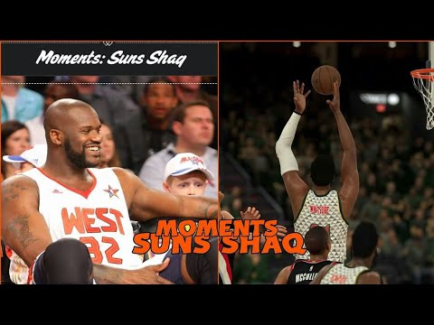 NBA 2K18 MYTEAM MOMENTS CHALLENGE : SHAQ SUNS : (TIPS AND TRICKS) PS4 PRO GAMEPLAY