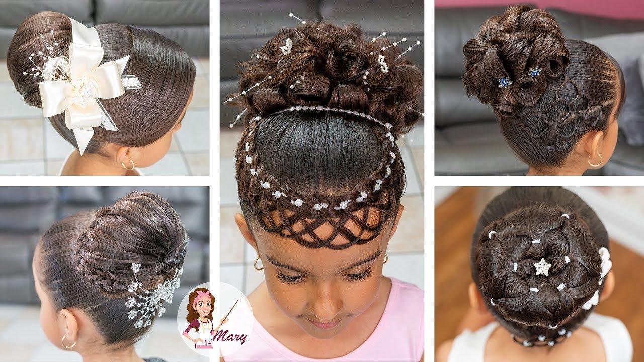 5 incre bles peinados elegantes para primera comuni n - Peinados sencillos para comunion ...