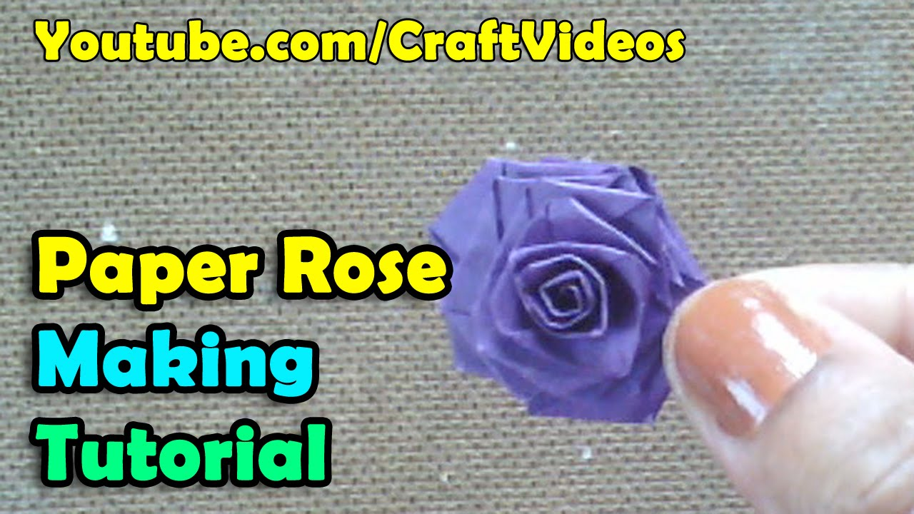 How to make a paper rose flowers youtube dhlflorist Image collections