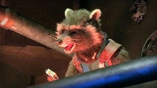 Rocket Raccoon animatronic in Guardians of the Galaxy - Mission: BREAKOUT! ride at Disneyland