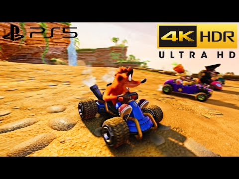 Crash Team Racing Nitro-Fueled PS5 HDR Gameplay (4K 60FPS)