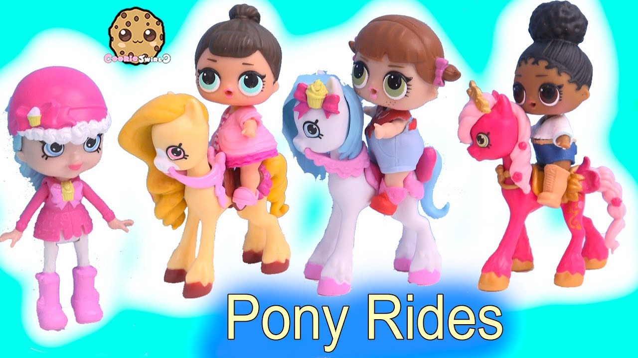 cf39be9bd LOL Surprise Horse Ride with Happy Places Shopkins Shoppies + Blind Bags