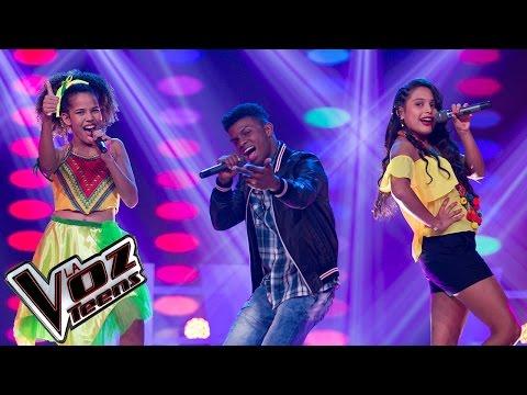 Laura, Rachel y Super Boy cantan 'De donde vengo yo' | Batallas | La Voz Teens Colombia 2016