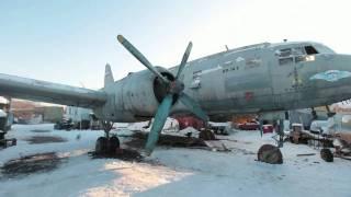 Ил-14Т «Голубая мечта». Запуск правого мотора