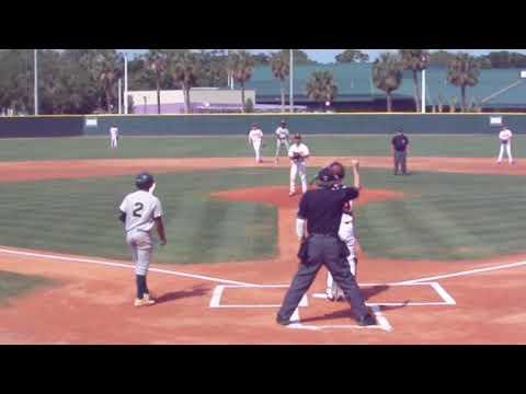 Markeefe Beckett Jr stealing bases vs Crooms Academy