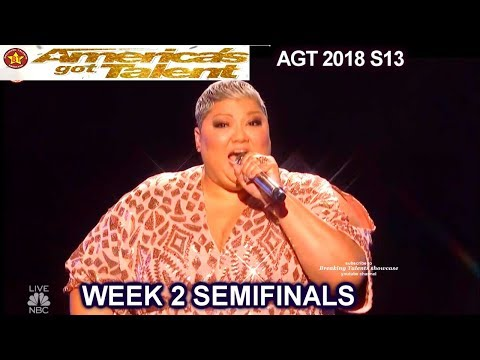 "Christina Wells sings Aretha's ""Natural Woman"" AWESOME Semi-Finals 2 America's Got Talent 2018 AGT"