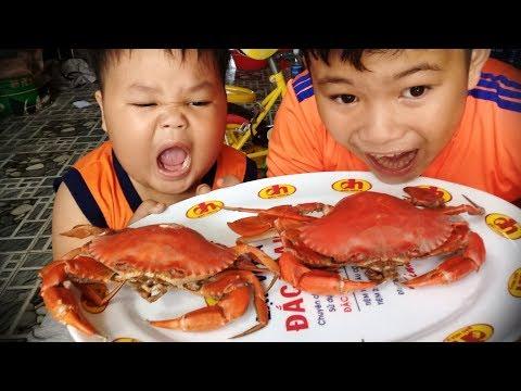 Đồ chơi trẻ em bé pin đi chợ mua cua ❤ PinPin TV ❤ Baby toys market buy crads