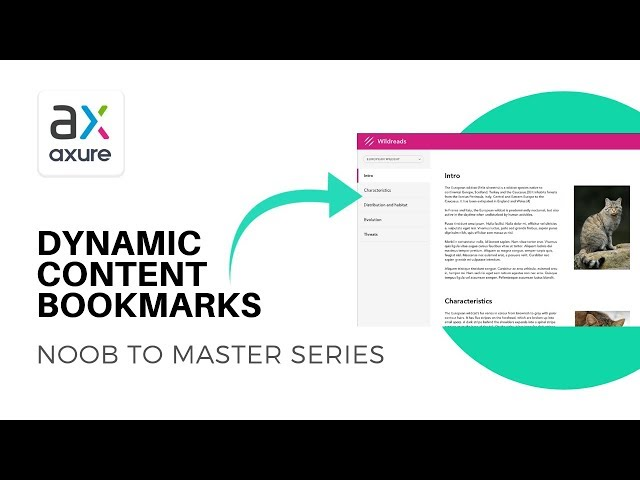 Create Bookmarks for Dynamic Content Scrolling | Axure RP: Noob to Master Ep27