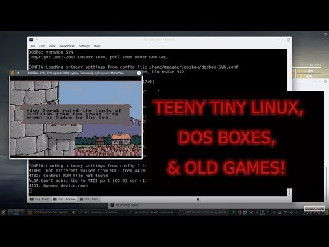 Really tiny Linux distributions, old DOS games, and more on Cooking With Linux (without a net)