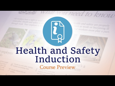 Health and Safety Induction - E-Learning Course Preview