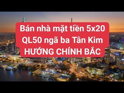 Bán nhà trả góp mặt tiền QL50 Ngã Ba Tân Kim DT 5×20 2 Lầu 2 tỷ 950 LH 0906485209