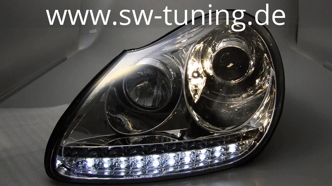 Sw light headlights hid for cayenne mk1 955 02 07 chrome sw tuning
