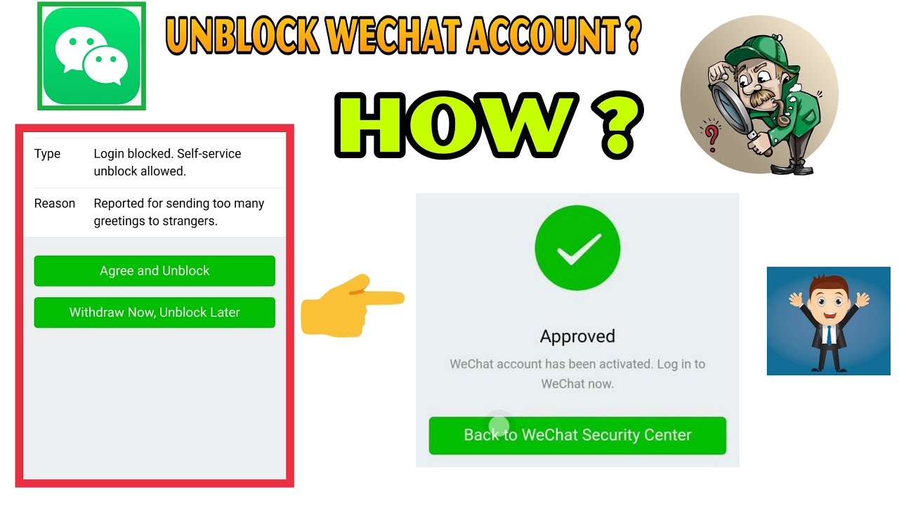 Blocked wechat due suspicious activity to account How to