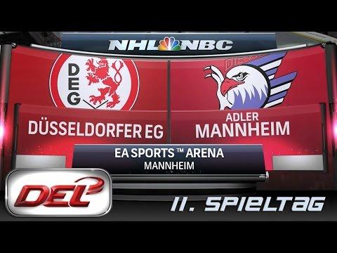 Deutsche Eishockey Liga [DEL] #011 - Adler Mannheim - Düsseldorfer EG ★ Let's Commentary NHL 15