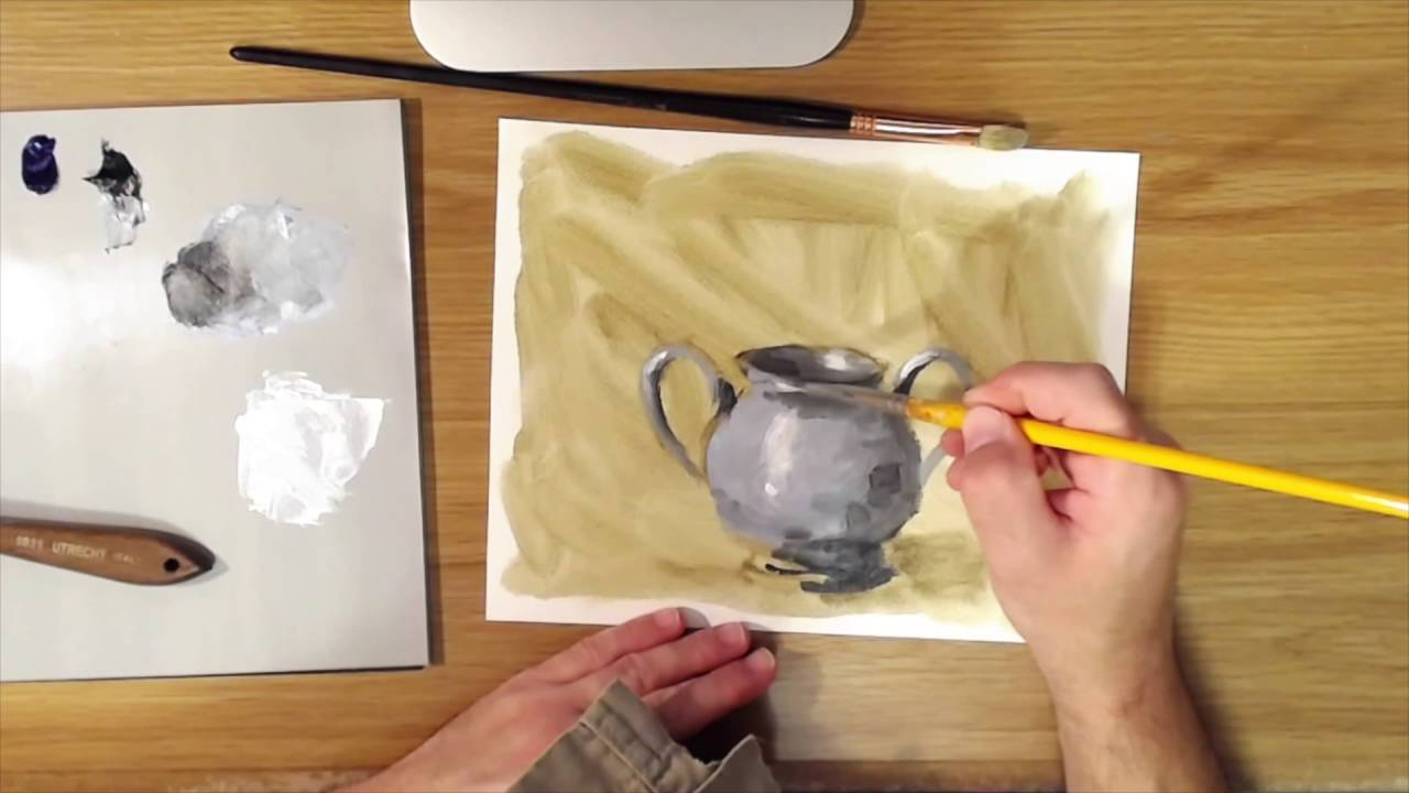 How to Paint Silver - YouTube