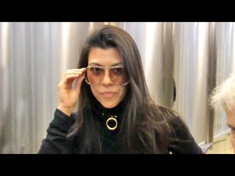 Kourtney Kardashian Asked If She's Scared Of Kim's Attacker Vitalii Sediuk As She Jets To Paris