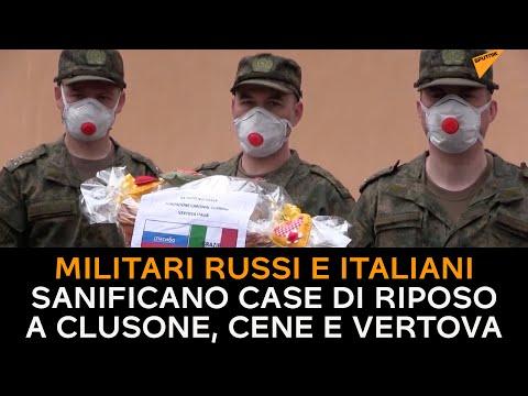 Lombardia, militari russi e italiani sanificano case di riposo a Clusone, Cene e Vertova