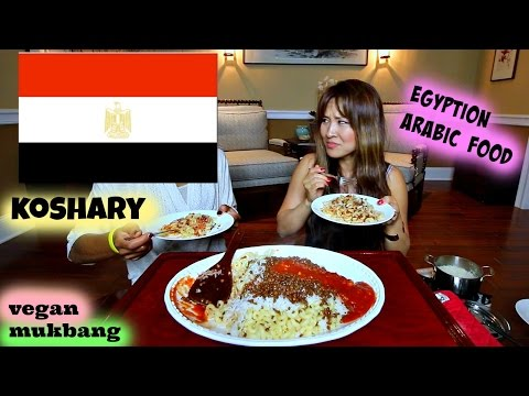 ARABIC FOOD • koshary كشري • Mukbang & Recipe