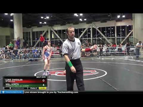 Middle School 87 Will Korth Sanderson Wrestling Academy Vs Luke Zwiesler Mt. Spo Yetis