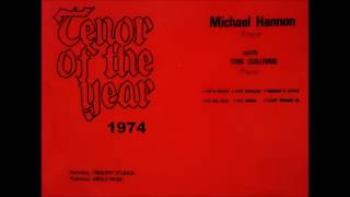 MICHAEL HANNON TENOR OF THE YEAR 1974 THE GENTLE MAIDEN