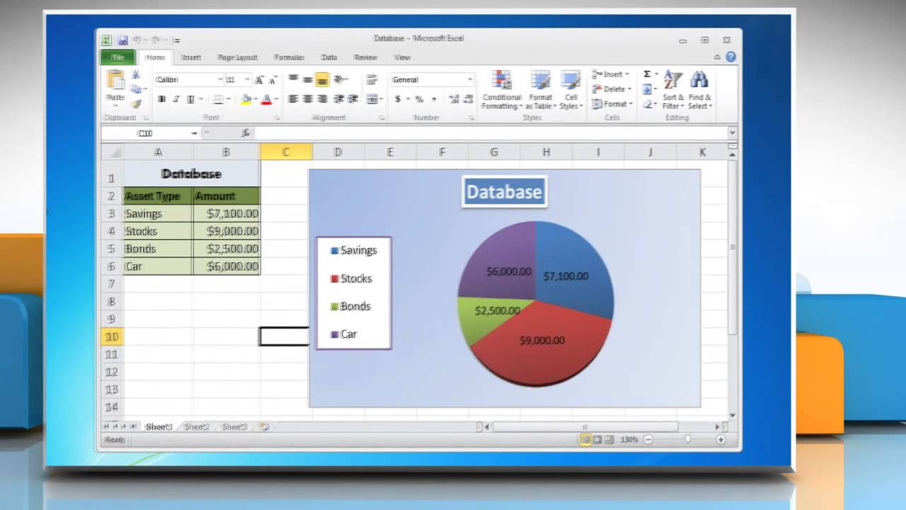 How to rotate the slices in pie chart in excel 2010 youtube nvjuhfo Image collections