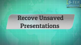 MS PowerPoint Tips and Tricks-Recovering Unsaved Presentation