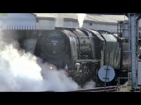 35028 'Clan Line' And 46233 'Duchess of Sutherland At Salisbury - 23/09/17