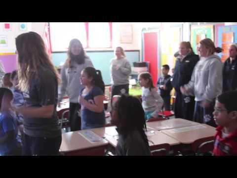 QU Women's Lacrosse Visits Helen Street School