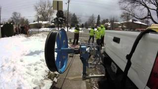 Controlling the  fiber pulling wheel