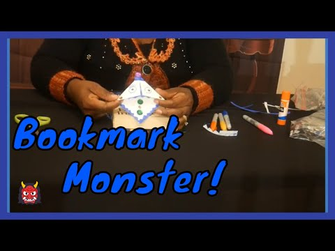 Making A Cool Book Monster Bookmark